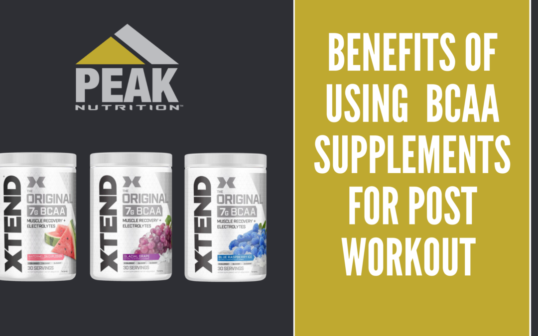 xtend bcaa supplements with peak nutrition logo
